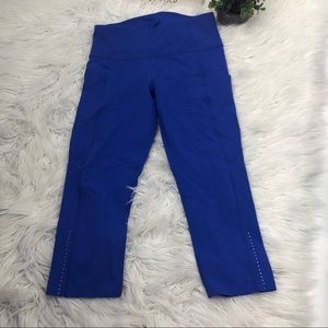 Lululemon Fast And Free Crop ll Blue
